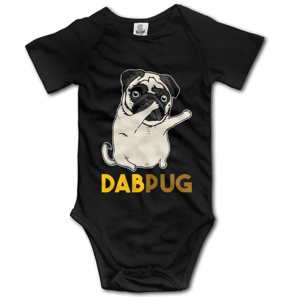 VANMASS Toddler Dabbing Pug Short Sleeve Bodysuit Jumpsuit