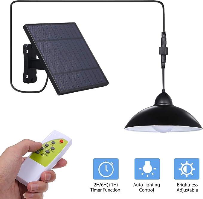 Luz Colgante Solar Exterior,Tomshine 12 LEDs Lámpara Colgante ...