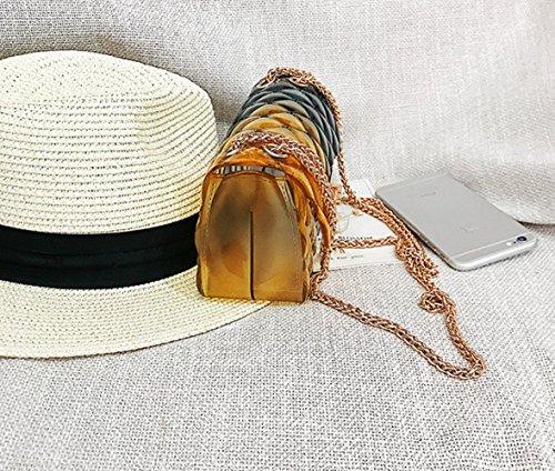 pequeño jalea del Lingge la del Bolso mujeres gradiente Bolso de de color A de del cerradura la del de verano Bolso pequeño cadena del de las la olor bloqueo del TwTn40qRE