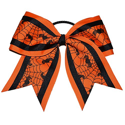 The Ultimate Bow - Spooky Spiders Halloween Cheer Bow Costume Bow -