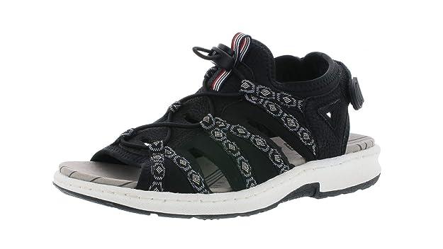 Rieker 67770 Damen Trekking Sandalen,Outdoor-Sandale,Sport-Sandale,Sommerschuh