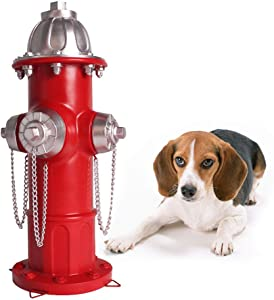 Claratut Resin Dog Fire Hydrant Puppy Pee Post Training Statue,14.5 inches Outdoor Garden Yard Lawn Ornament with 4 Stakes