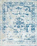 Unique Loom Sofia Collection Traditional Vintage Blue Area Rug (8' x 10')