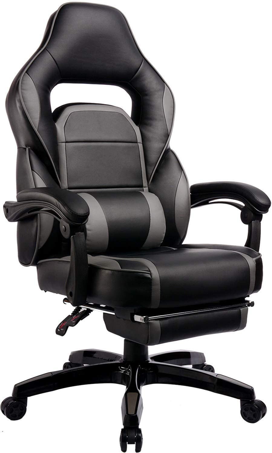Big and Tall Gaming Chair High Back PU Leather PC Racing Computer Desk Office Executive Swivel Recliner