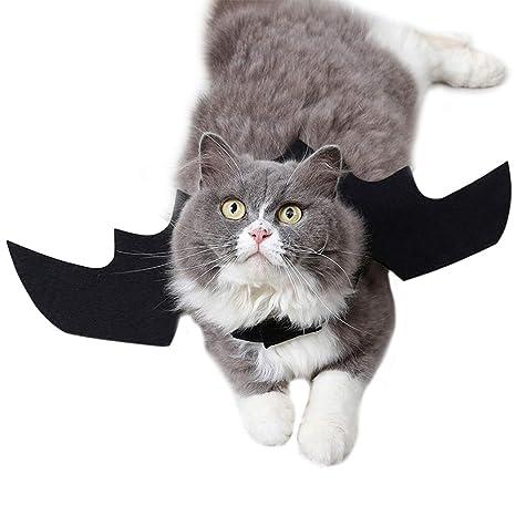 GZQ 2 pcs Alas de Murciélago para Gato,, Disfraz de Perros Gatos para Halloween