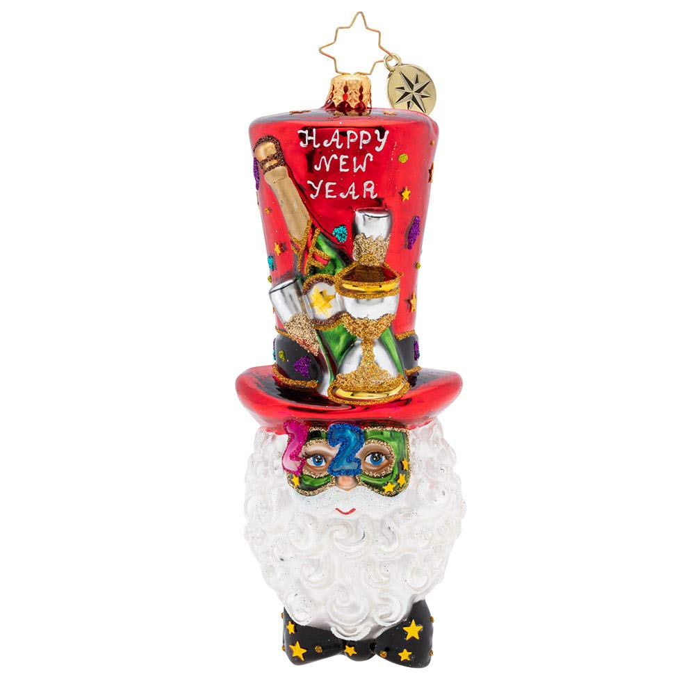 Christopher Radko Happy New Year Nick 2020 Christmas Ornament, Multicolor