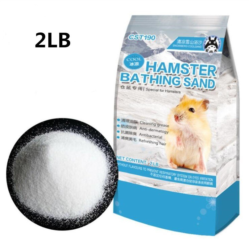 Hamster Bathing Sand,Pet Sand for Tiny Friends Farm Chinchilla(2LB)