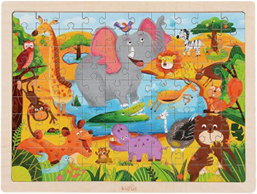 TianranRT - Puzzle de madera para niños, diseño de animales ...