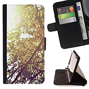 For Apple (5.5 inches!!!) iPhone 6+ Plus / 6S+ Plus Case , Planta Naturaleza Forrest Flor 57- la tarjeta de Crédito Slots PU Funda de cuero Monedero caso cubierta de piel