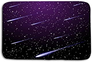 Yugfhj Doormat Indoor Outdoor Starry Night Sky Mat