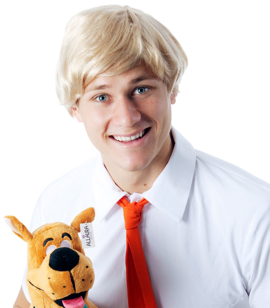 Short Blonde Wig for Men - Fred Scooby Doo Andy Warhol Draco Malfoy Costume Wigs by ALLAURA (Image #2)