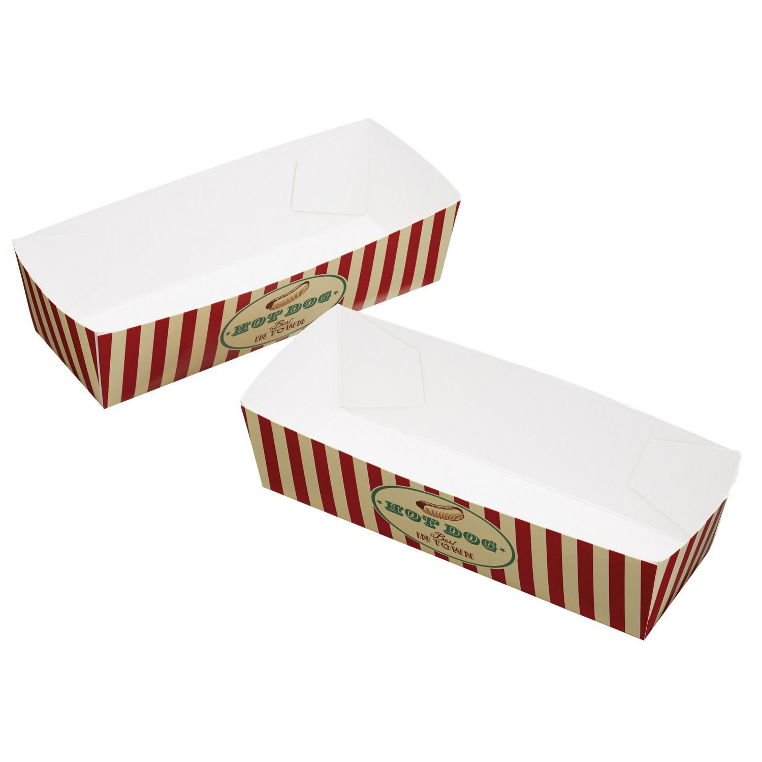 19.5 x 5cm Pack Of 6 World Of Flavours Stateside Card Hotdog Trays