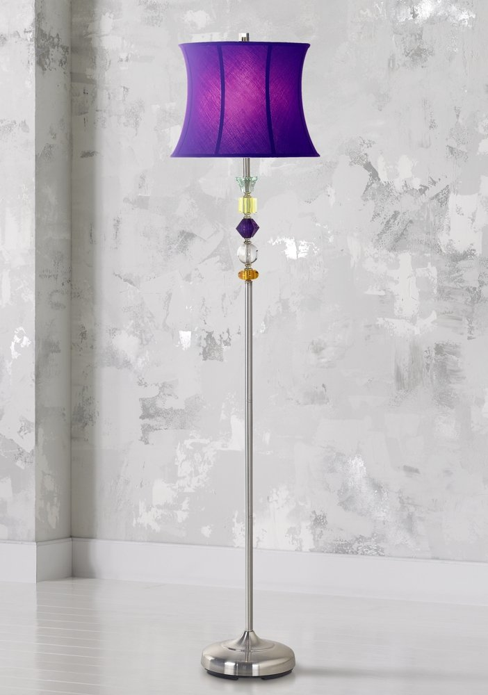Amazon purple bijoux floor lamp home improvement aloadofball Gallery