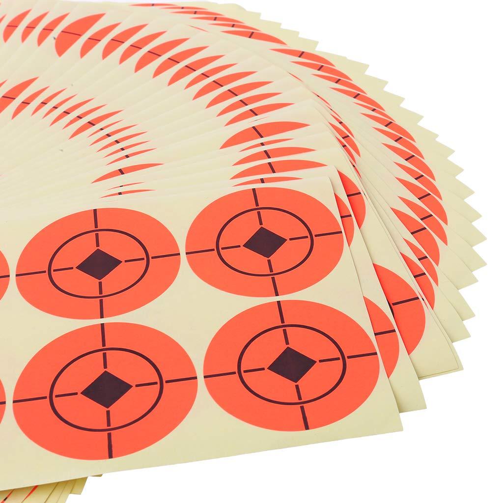 Koungyun 25pcs Shooting Sticker Round Orange Target Self Adhesive Goal Neon 5cm Accessory
