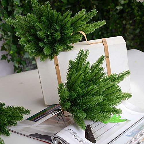 Dejean 30 PCS Artificial Plants Fake Pine Leaves Needle for Christmas Thanksgiving Wedding and Other Home Decoration