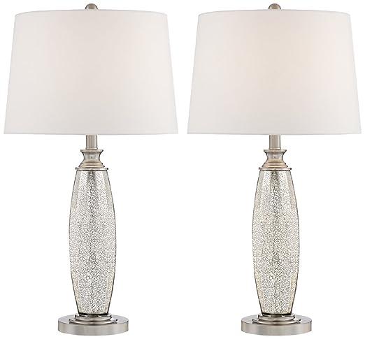 Carol mercury glass table lamps set of 2