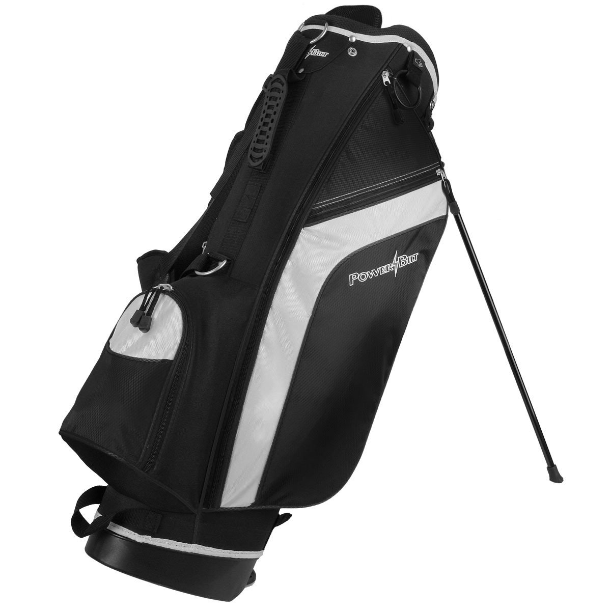 PowerBilt Santa Rosa Black/Black Stand Golf Bag (Black)