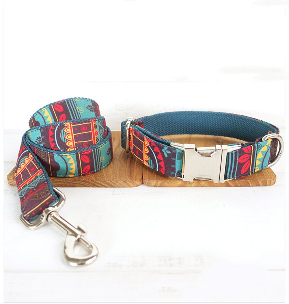 A XL A XL Pet Collar Traction Suit Pet Collar and Traction Rope Personality Ethnic Style XQ-050321