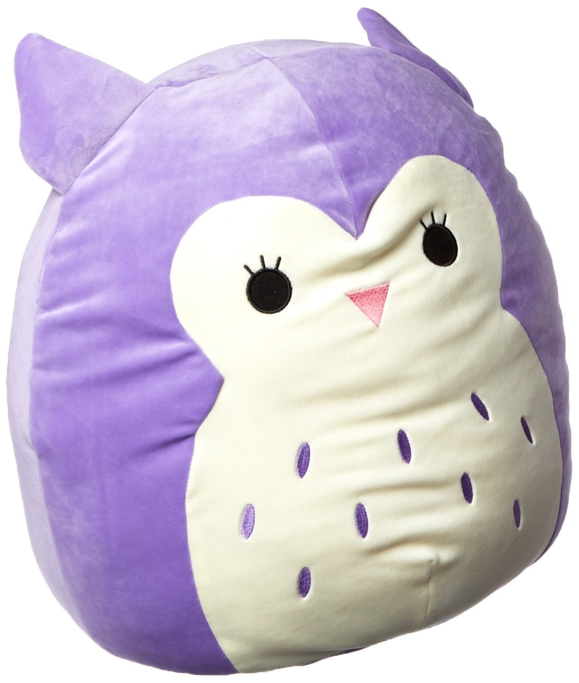 SQUISHMALLOW Holly The Owl Pillow Stuffed Animal, Purple, 16''