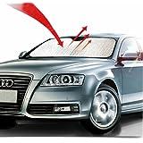 "Big Ant Car Sunshade Windshield Foldable UV Ray Reflector Auto Window Sun Shade Visor Shield Cover for Heat Block, Keeps Vehicle Cooler- Sliver (55"" x 27.5"")"