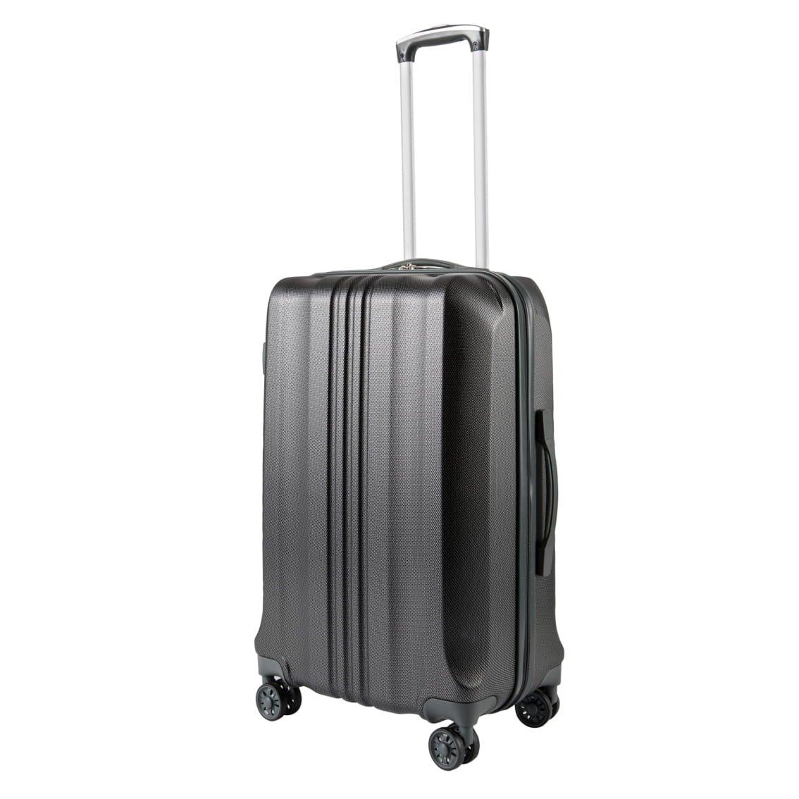 Pack.It Leichtgewichtiger Trolley mit ABS-Hartschale, als Kabinenhandgepäck Geeignet, um 360° Drehbare 4 Doppelrollen, Schwarz, Zugelassen für Ryanair, Easyjet und Lufthansa