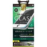 Simplism iPhone7 Plus フィルム [FLEX 3D] 立体成型フレームガラスフィルム ホワイト  TR-GLIP165-F3CCWT