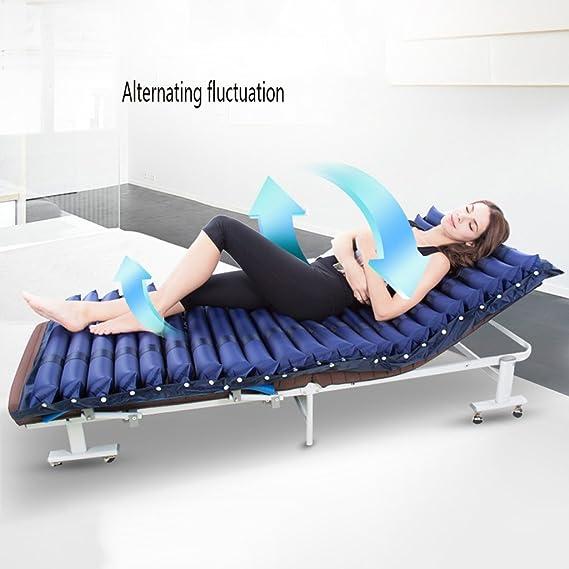 Lxn Colchón anti-decúbito inflable del PVC para el hogar médico, incluye la pompa eléctrica y el orificio del orinal (azul profundo): Amazon.es: Salud y ...