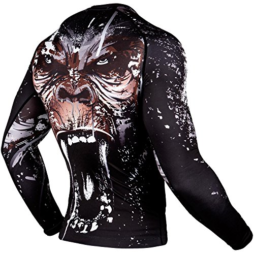 Venum Gorilla Rashguard - Long Sleeves - Black - Small