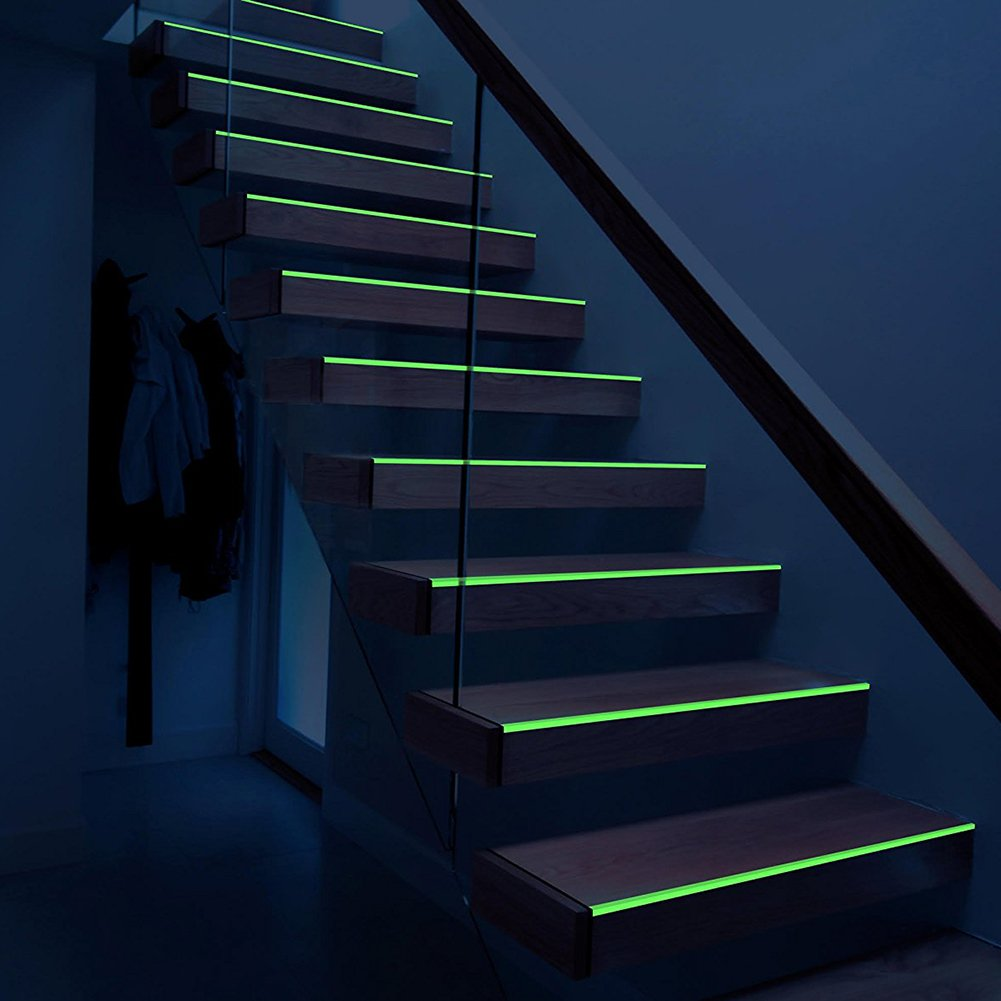 Glow Tape, Green Luminous Duct Tape - 33 feet Length x 0.8 inch Width, Photoluminescent, Removable, Waterproof, High Luminance for Marking Stairs, Exits and Party Decoration