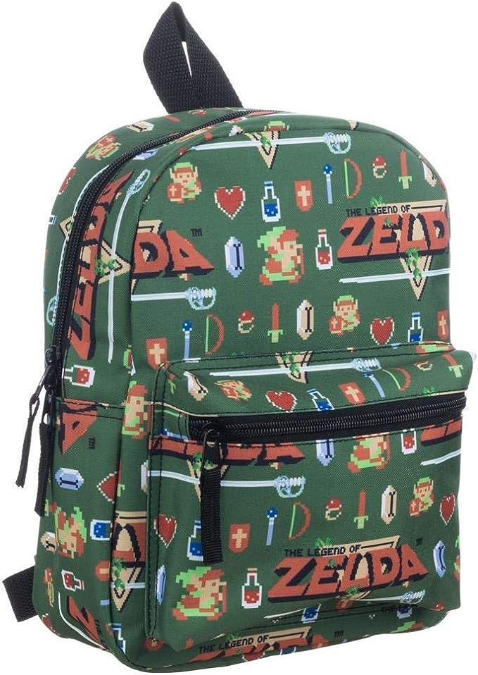 Allover Printed Backpack Rucksack  Neu Zelda
