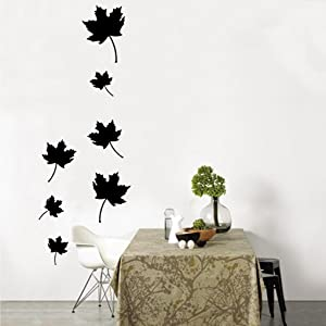 Createforlife Wallpaper Home Decoration Wall Art Fashion Sticker Black Maple