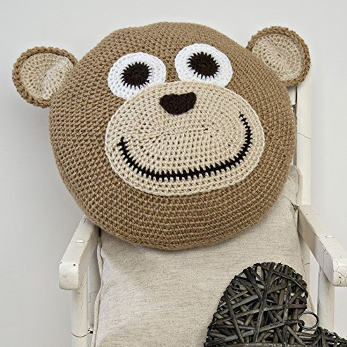 Wendy - Monkey Cushion - Complete Crochet Kit by Twilleys of Stamford by Twilleys of Stamford