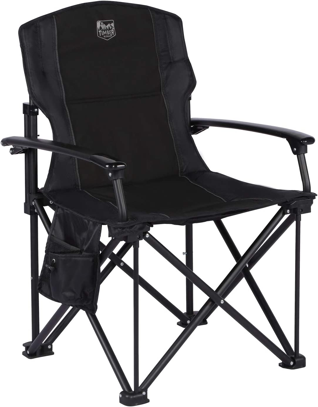 TIMBER RIDGE Lightweight Portable Outdoor Folding Camping Quad Chair with Hard Armrest-Support Capacity 300 lbs.