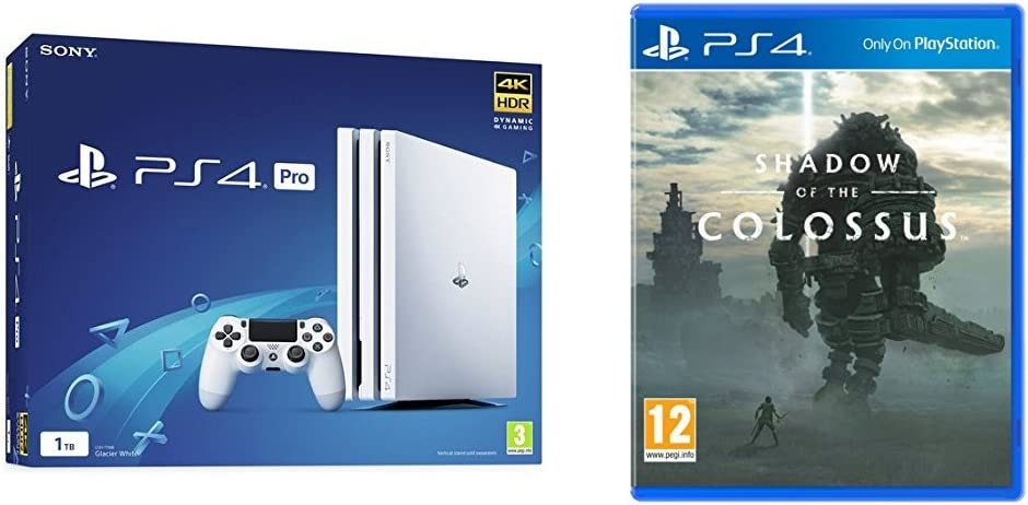 Sony PlayStation 4 Pro Console - White - 1TB + Shadow of The ...