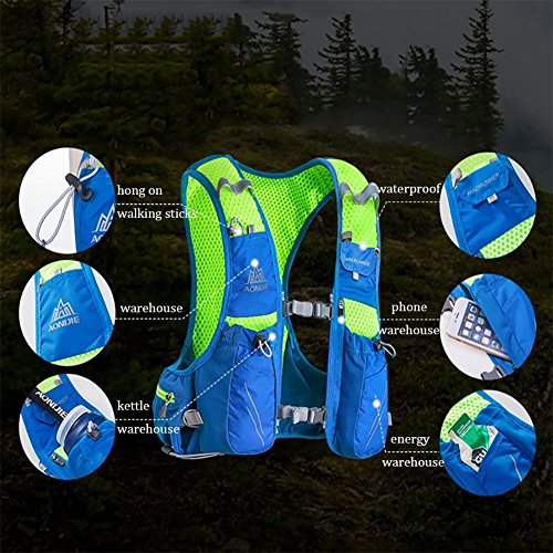 Ultralight À 10l Aonijie 350ml Sac Imperméable Outdoor Running Dos Anj904blue Randonnée Voyage Camping AaxqX4qE