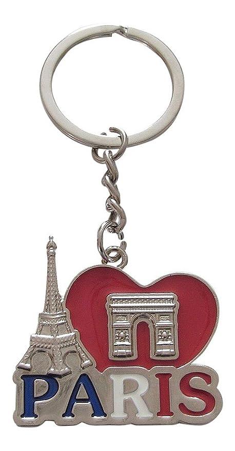 Llavero para bolsa con torre Eiffel y Arco de Triunfo de ...