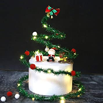 Excellent Amazon Com Musitelying Christmas Santa Bowknot Spiral Garland Funny Birthday Cards Online Eattedamsfinfo