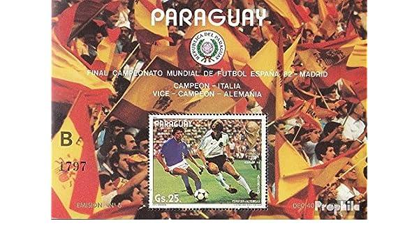 Prophila Collection Paraguay Michel.-No..: Block378 (Completa.edición.) 1982 Fútbol WM ´82, España (Sellos para los coleccionistas) fútbol: Amazon.es: Juguetes y juegos