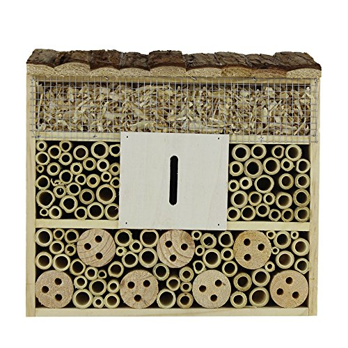 (Beaks And Paws B&P Insect Hotel for Beneficial Bug Bees Butterfly, Natural Wooden House (Insect Nest))
