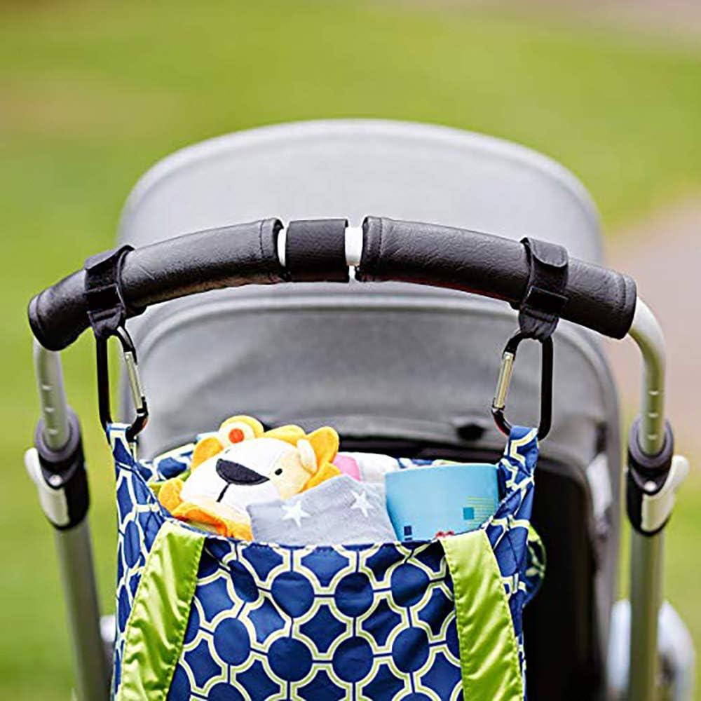 Paquet de 2 organisateur de clip de poussette durable pour sac /à main Sacs /à couches pour b/éb/é OurLeeme Crochets de suspension pour poussette