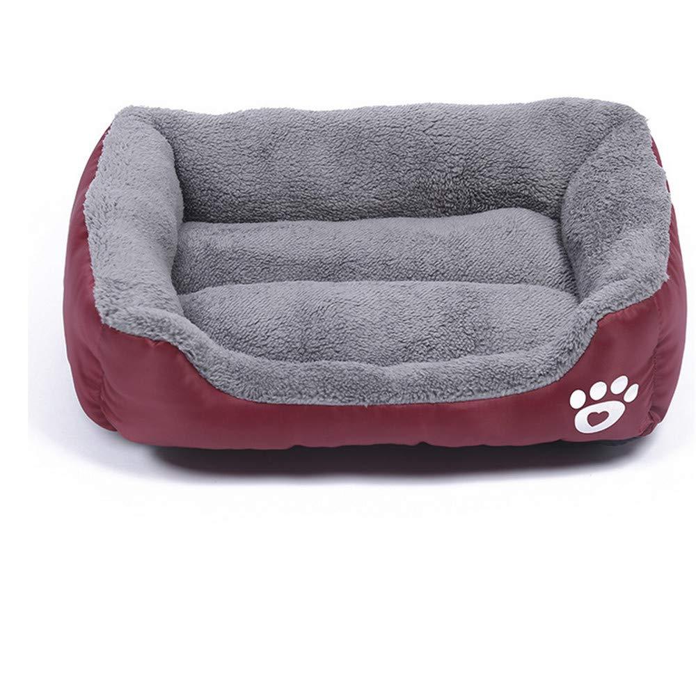 Mzdpp Large Medium E Small 3 Dimensione Quadrato Alta Indossabile Confortevole Caldo Fodera Per Gatti Per Cani Rosso 80X62Cm