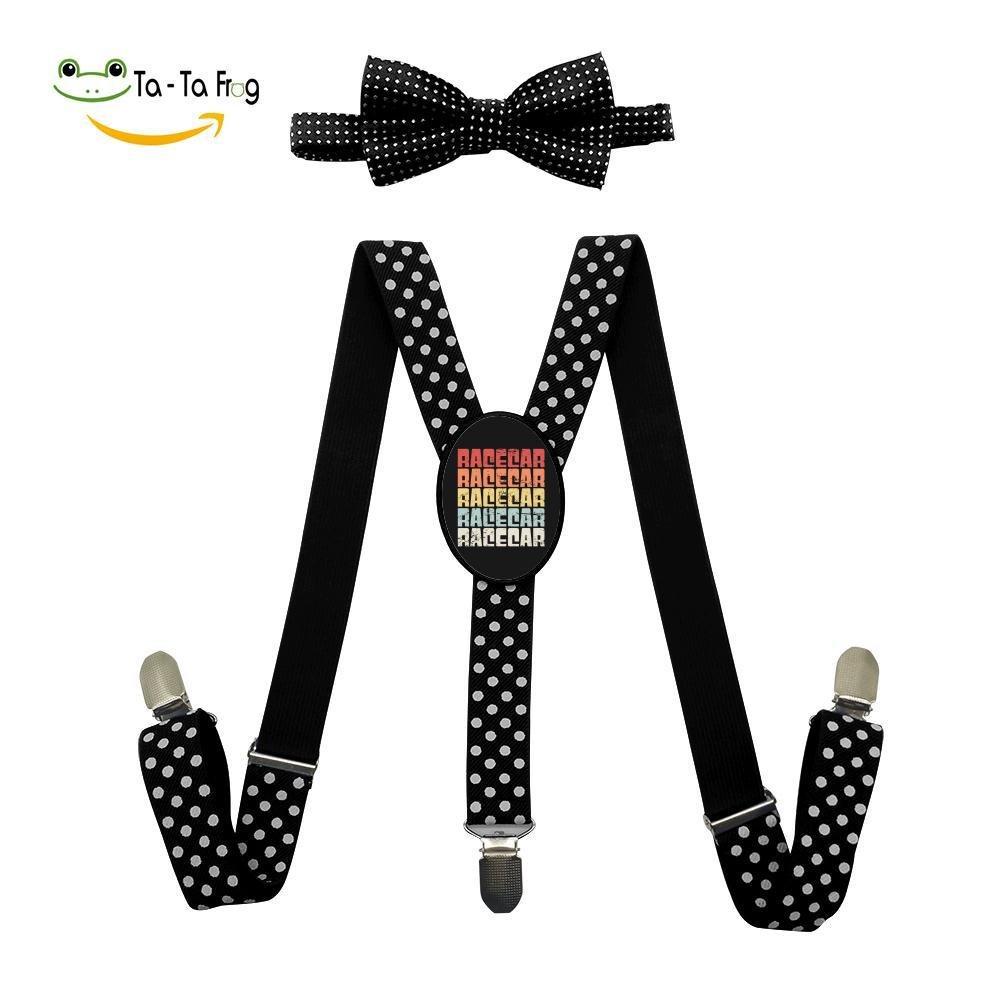 Grrry Unisxes Race Car Adjustable Y-Back Suspenders /& Bowtie Set