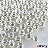 "100 Silver Plated Metal Spacer Beads 4mm 1/6"" DIY Jewelry"
