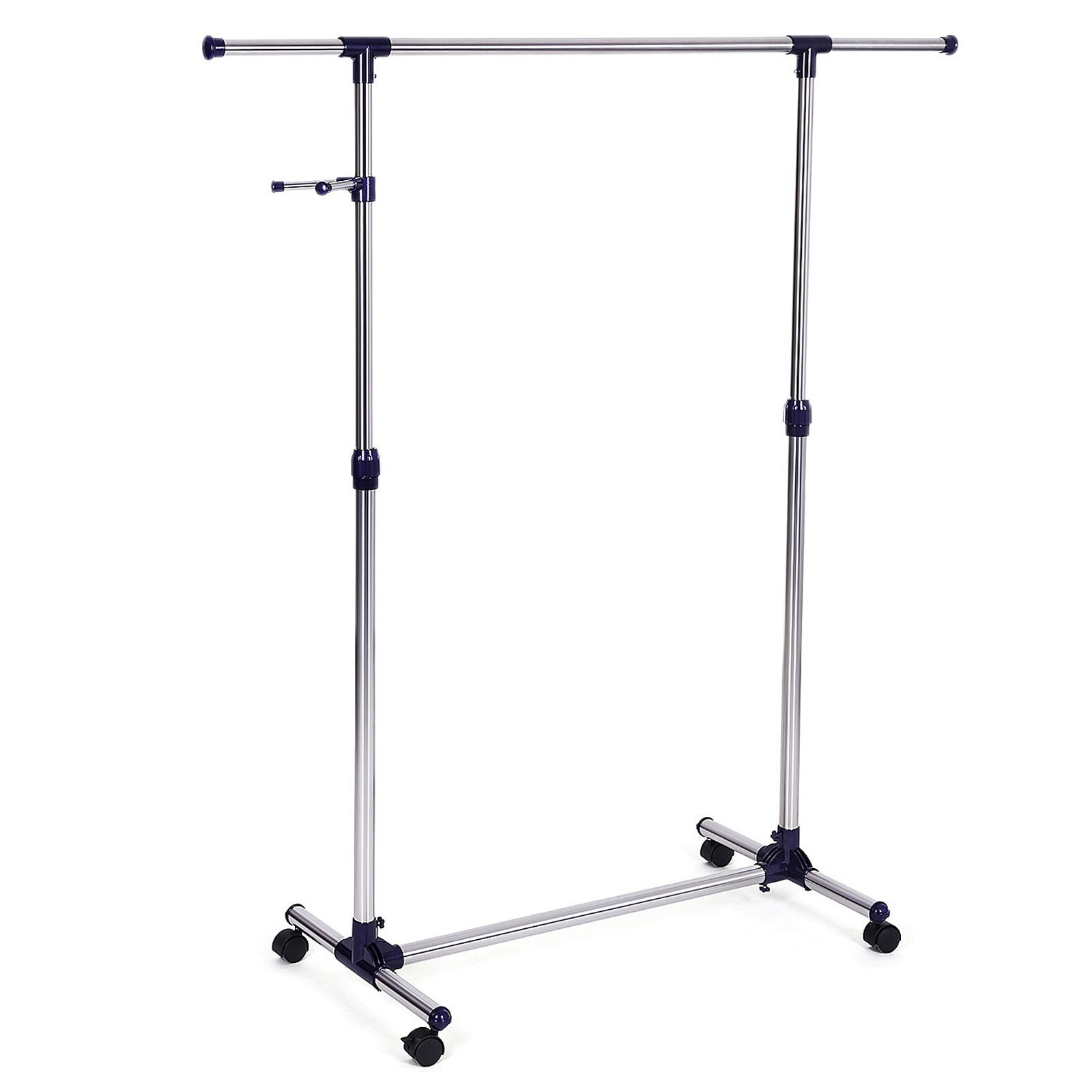 SONGMICS Rolling Clothes Rack Adjustable Garment Rack Portable Hanging Rack for Clothes with Wheels ULLR01L