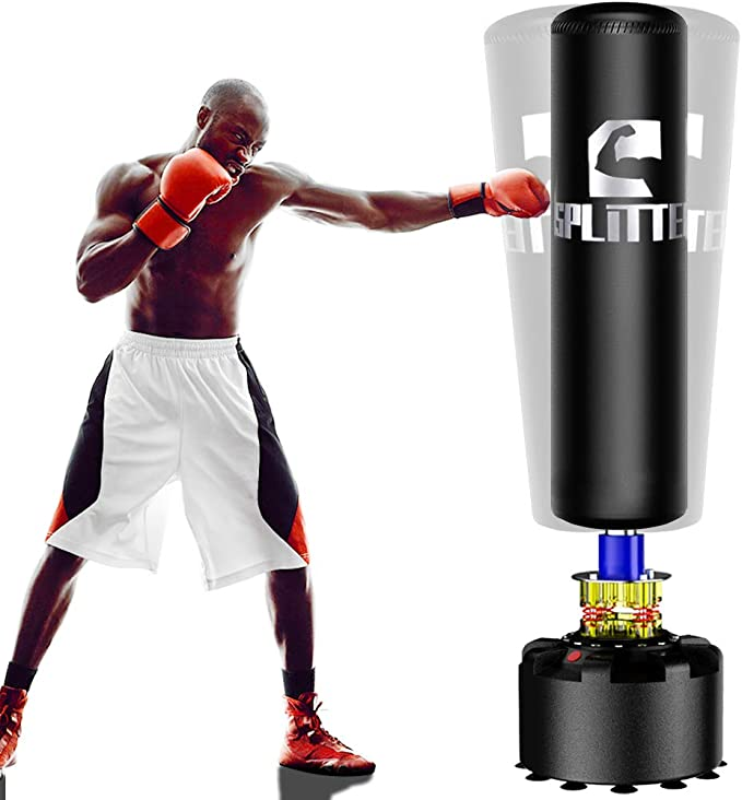 Freestanding Bag Kickboxing Muay Thai RDX Free Standing Punch Bag with Gloves 6ft XXL Heavy Duty Adult Pedestal Bag Karate Office Gym Home Fitness Workout 17 Suction Cup Stand Base MMA Boxing