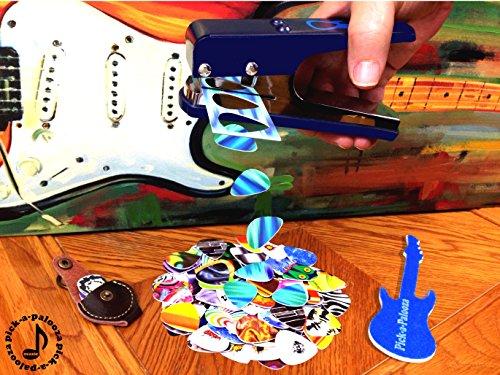 Pick-a-Palooza DIY Guitar Pick Punch with Leather Key Chain Pick Holder - Blue by Pick-A-Palooza (Image #5)