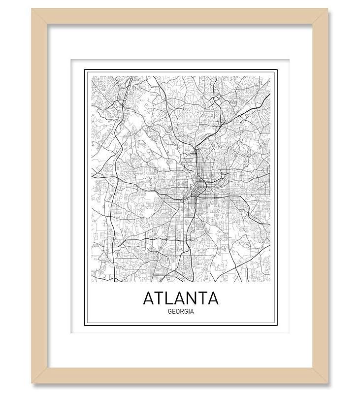 Modern Wall Art Contemporary Art Gift Atlanta Georgia City Map Print Premium Poster Office Decor