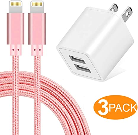 10x 2M 6FT Color 8 Pin Usb charger data sync cord for Mini iphone5 6 7 8 10 plus