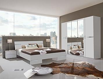 Germanica BAVARI Meuble pour chambre à coucher 5 portes, avec lit ...