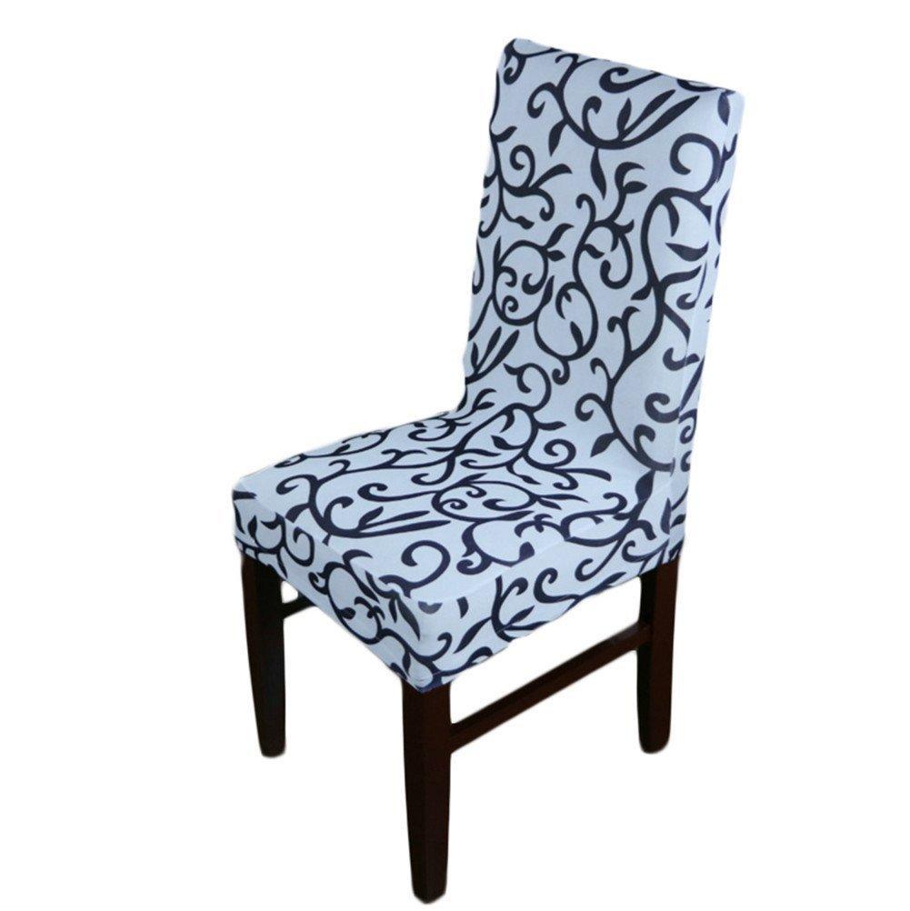 Dining Chair Covers Restaurant Wedding Stretch Spandex Short Seat Slipcover (Gold + Black) EasonJ